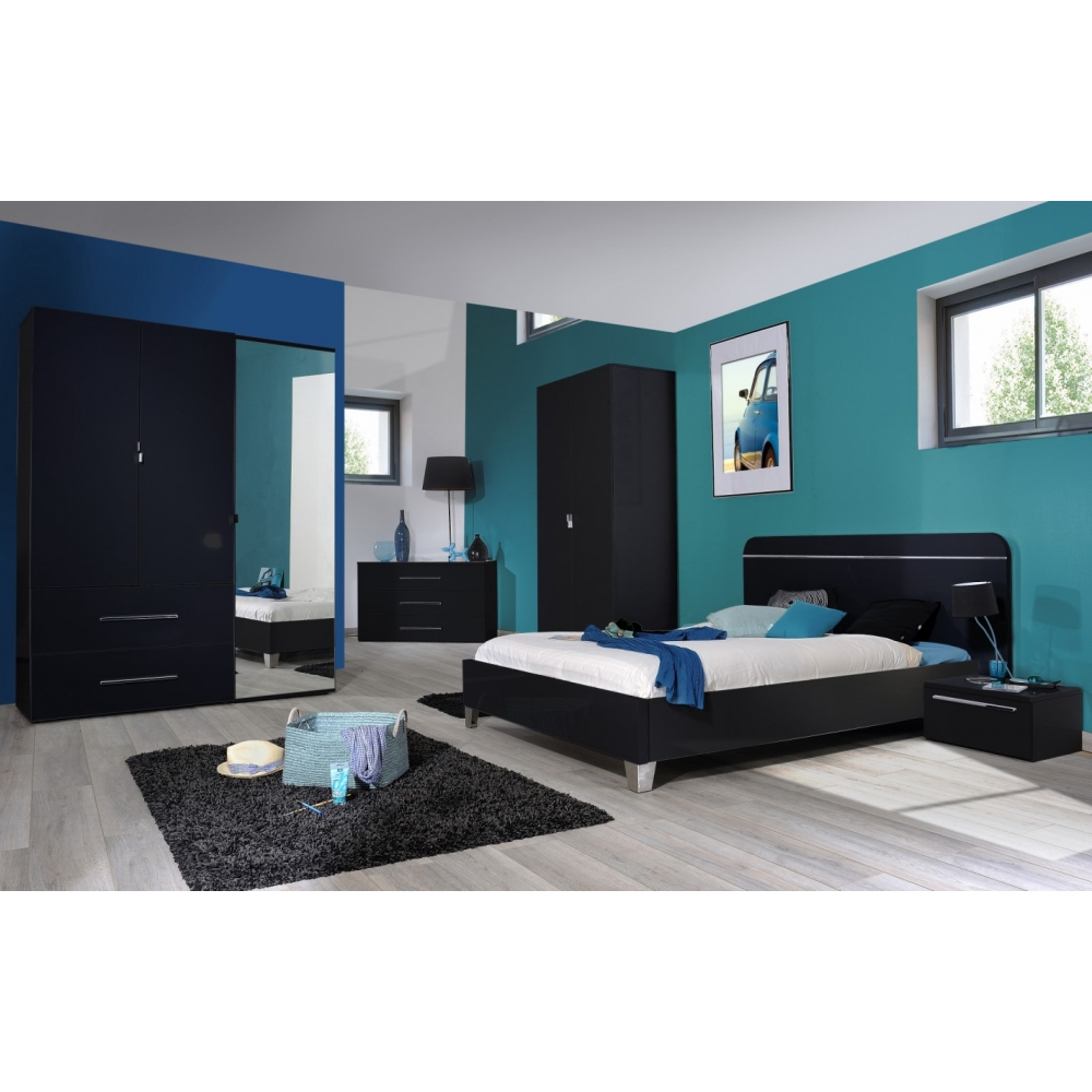 Chambre coucher compl te adulte leader for Chambre complet adulte