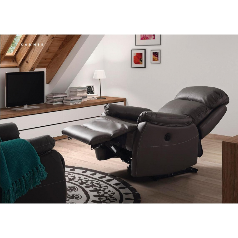 fauteuil de relaxation lectrique cuir cannes. Black Bedroom Furniture Sets. Home Design Ideas