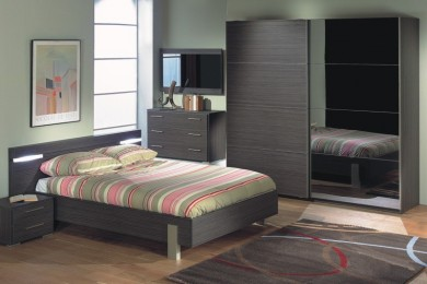 Chambre adulte contemporaine dumobilier for Chambre adulte contemporaine