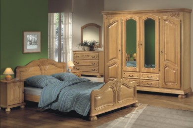 Chambre adulte bois massif dumobilier - Chambre a coucher chene massif moderne ...