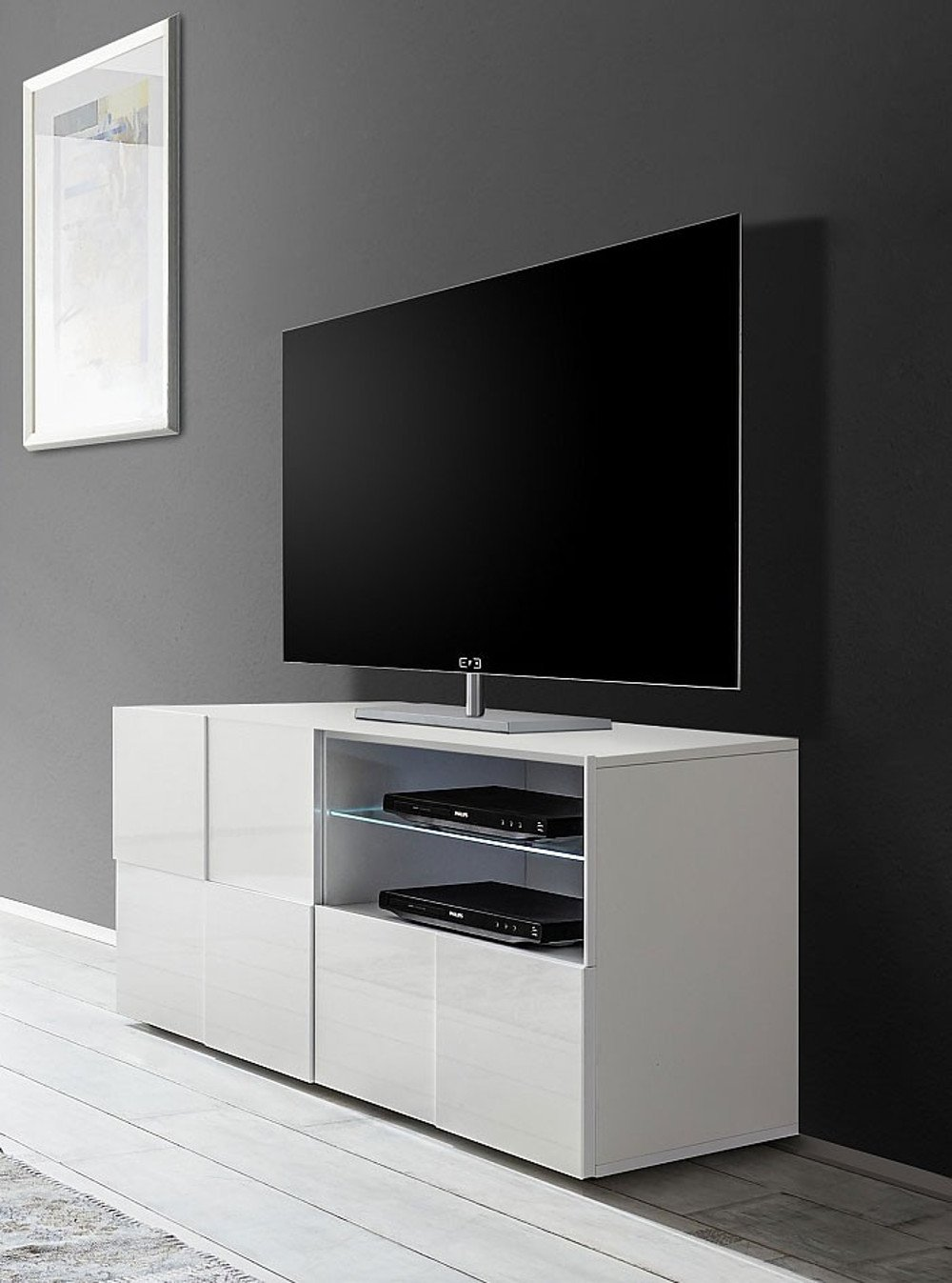 Meuble tv design 121 cm damien for Meuble tv 75 cm