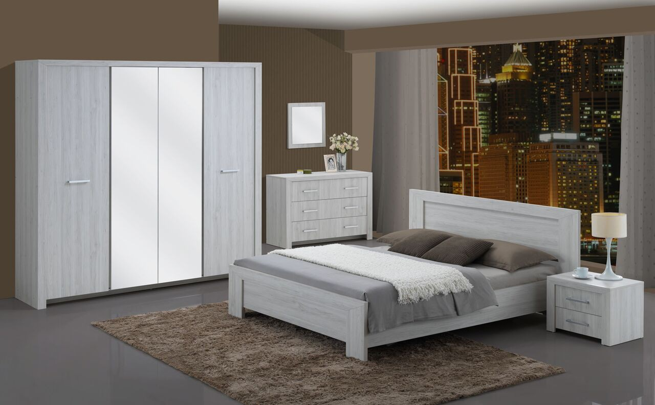 chambre adulte compl te contemporaine motor. Black Bedroom Furniture Sets. Home Design Ideas