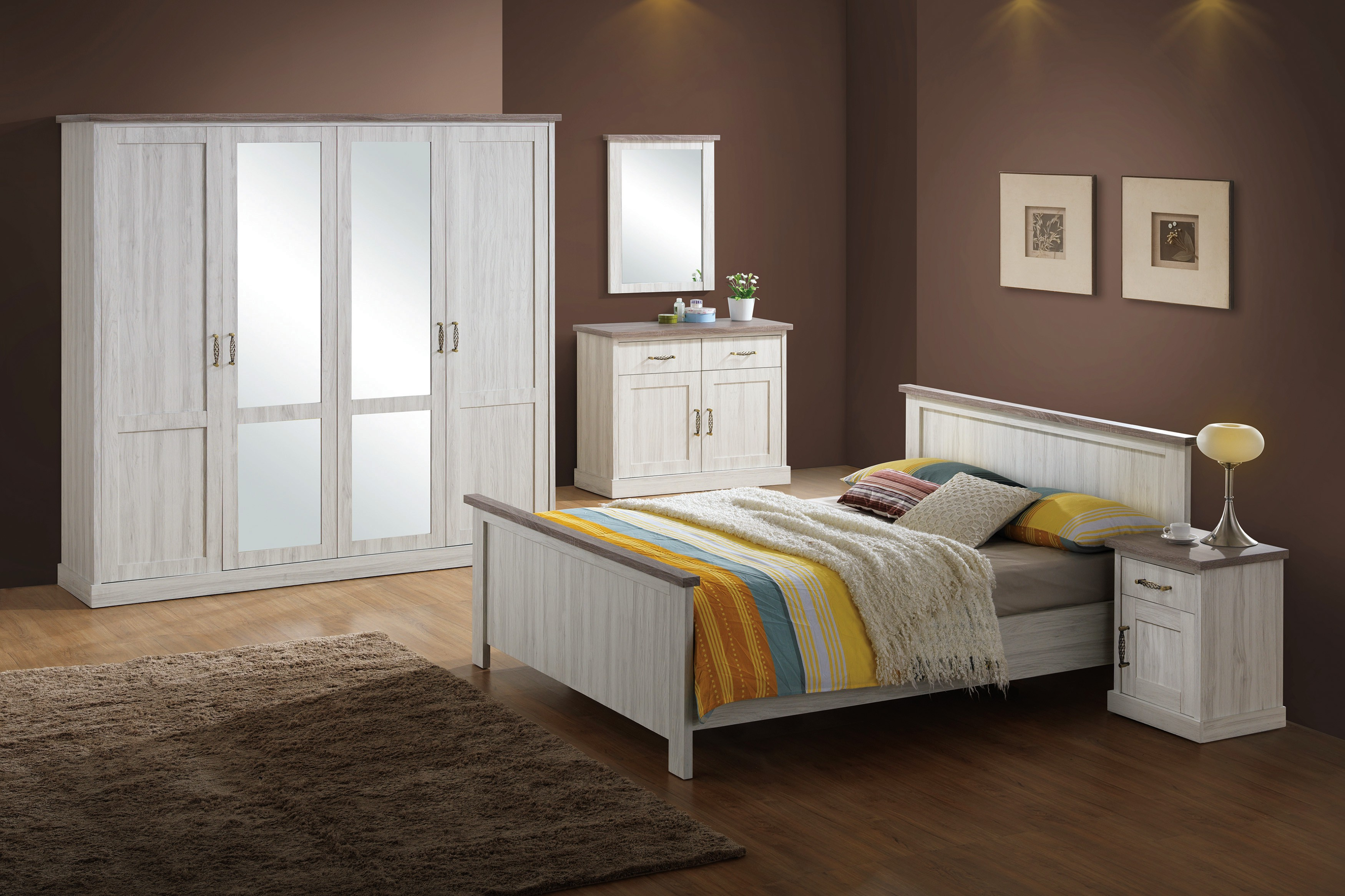 Chambre adulte compl te contemporaine bella for Chambre contemporaine adulte